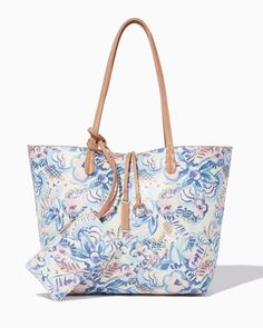charming charlie   Painted Blooms Reversible Tote   UPC: 400000028545 #charmingcharlie