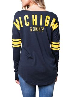 Popular for more reasons than one, this University of Michigan football spirit jersey combines comfort with ultimate team spirit in a look that won't go out of style. | SportyThreads.com