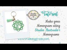 Make your Monogram using Studio Ilustrado's Monograms - Silhouette Studio 4.1! - YouTube