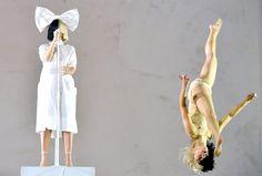 Sia and dancer Maddie Zielger at Coachella 2016.