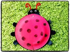 ladybug, insect, spring, diy kid, cardboard plate Source by carolinefavrevi Decoration Creche, Paper Plate Crafts For Kids, Puppet Crafts, Toddler Crafts, Paper Plates, Diy For Kids, Ladybug, Diy Crafts, Activities