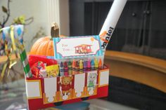 Hand made Daniel Tiger theme goodie boxes.