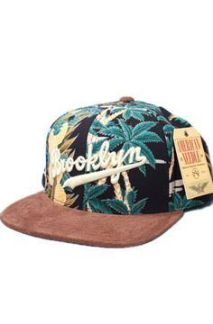 Brooklyn Dodgers Hawaiian Haven Strapback Hat (Floral Brown) by  123STRAPBACKS Strapback Hats 87adba055096