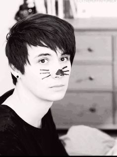 He looks so serious but this a pic of when Phil made an innuendo and Dan was like why