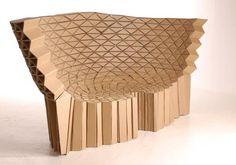 Meuble en carton recyclé du Studio Lazerian