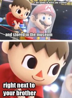 I loved that trailer, but seriously the Villager does seem psychotic. - Animal Crossing - Super Smash Bros