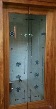 Ideas for wooden glass door design window Garage Door Design, Door Design Interior, Main Door Design, Wooden Glass Door, Wooden Doors, Glass Doors, Temple Design For Home, Barn Door Console, Pooja Room Door Design