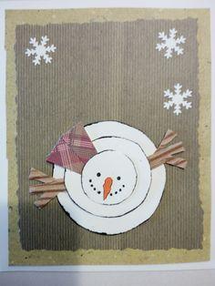 Biglietto pupazzo di neve
