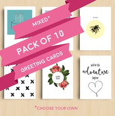 Mixed Pack | 10 X Greeting Cards