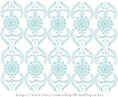Digital File Mandala Pattern Handmade by DeliaSopcaArt on Etsy
