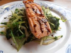 Salmon with Turnip Greens...give it a try!
