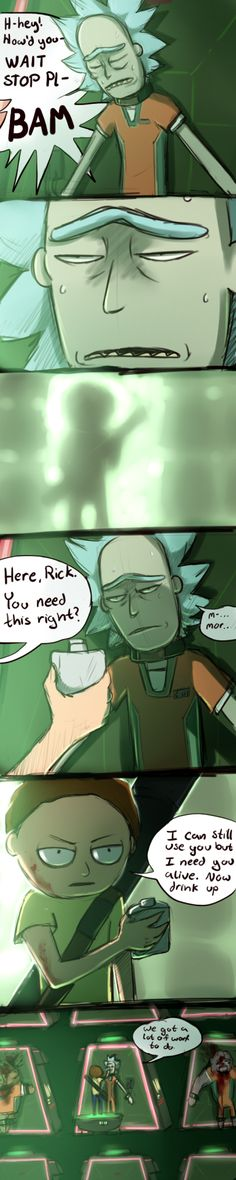 BUT LIKE what if evil Morty still has unfinished business with c-137 Rick so he BREAKS HIM OUT OF SPACE JAIL Rick would probably be weak from detoxing that poor bab