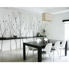 ADHESIVE ART - Naked Tree & Birds Wall Decal