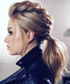 45 Gorgeous Winter Hairstyles For Long Hair - Hair & Beauty - Hairdos Ideas Easy Hairstyles For Medium Hair, Cool Braid Hairstyles, Winter Hairstyles, Medium Hair Styles, Wedding Hairstyles, Curly Hair Styles, Hairstyle Ideas, Latest Hairstyles, Rock Hairstyles