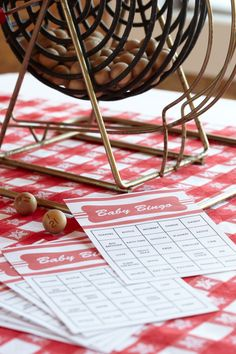 Baby Bingo. A game that everyone at every age can participate in at the baby shower. Bingo!