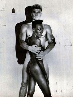 Grace Jones and Dolph Lundgren by Richard Avedon, 1985.