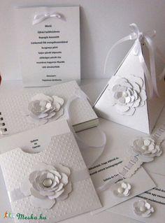 Saját tervezésű - ötletadó - mintatermék - egységes esküvői csomaghoz 5. , Esküvő, Naptár, képeslap, album, Meghívó, ültetőkártya, köszönőajándék, Papírművészet, Meska