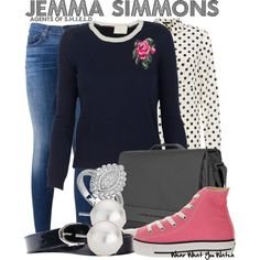 Jemma Simmons Agents of SHIELD everyday cosplay Casual Cosplay, Cosplay Outfits, Themed Outfits, Inspired Outfits, Fandom Fashion, Dc Movies, Fandom Outfits, Character Outfits, Geek Chic