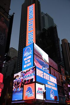 PHOTO: Big East Plasters Boise State Broncos All Over Times Square