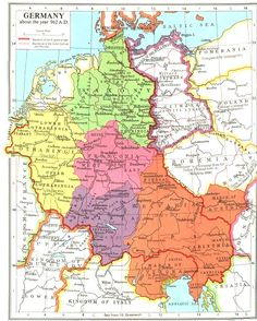By A.D. 962 both Upper and Lower Lotharingia had fallen inside,the German sphere.