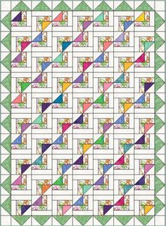 Name: Quilting : Newport Fantasy Quilt Pattern Strip Quilts, Scrappy Quilts, Easy Quilts, Patchwork Quilting, Quilt Blocks, Kid Quilts, Quilting Tutorials, Quilting Projects, Quilting Designs