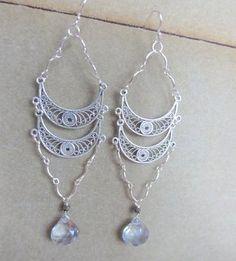 Blue Topaz Marrakesh Earrings info@halliescomet.com Marrakesh, Blue Topaz, Washer Necklace, Artisan, Gemstones, Earrings, Jewelry, Design, Fashion