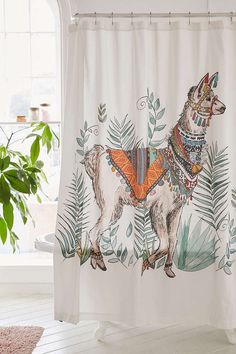Magical Thinking Fancy Llama Shower Curtain - Urban Outfitters Magical Thinking Fancy Llama Shower C Alpacas, Funny Llama Pictures, Llama Images, Beautiful Houses Interior, Beautiful Homes, Llama Decor, Ideas Vintage, Cool Shower Curtains, Kitchen Curtains