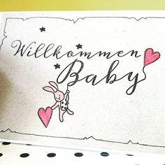 Mal zur Abwechslung eine Babykarte mit Stempeln vom #creativedepotgbr #kartenbasteln