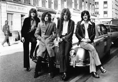 Led Zeppelin with John Paul Jones and Jimmy Page and Robert Plant and John Bonham in 1968.