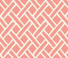 Savannah Trellis // Crisp White Summer Lawn fabric by willowlanetextiles on Spoonflower - custom fabric Coral Wallpaper, Custom Wallpaper, Linen Wallpaper, Neutral Wallpaper, Room Wallpaper, Coral Fabric, Grey Fabric, Fabric Patterns, Print Patterns