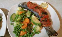 Baked fish Greek style #recipes #Greekfood #food Recipe: https://effrosinimoss.wordpress.com/2017/07/21/baked-fish-greek-style/