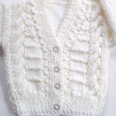 Infant knit cardigan 0 to 6 months Baby shower gift Baby