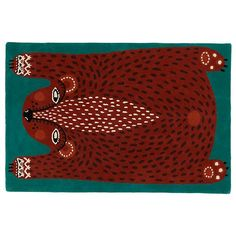 4 x 6' Don't Feed the Rug (Bear) in Patterned Rugs | The Land of Nod