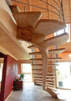 Cantilever stairs from Heirloom Timber Framing via Build Naturally with Sigi Koko