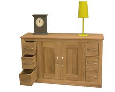 the wooden furniture store s mobel oak six drawer sideboard is a stunning addition to any dining