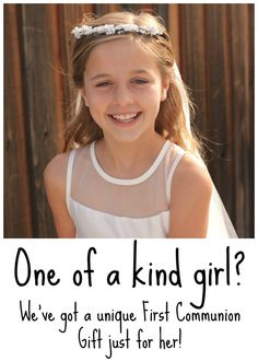 Unique First Communion Gift Guide. Six Unique First Communion Gifts for Your One of Kind Girl! Christening Bracelets, First Communion Gifts, Catholic Kids, Faith In Love, Spiritual Gifts, Religious Gifts, Gift Guide, Great Gifts, Unique