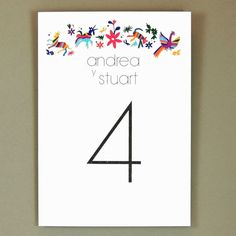 Wedding Table Numbers - Otomi Print – Unique and Ornate Destination Wedding Table Number (Andrea Suite) Wedding Inspiration, Wedding Ideas, Wedding Table Numbers, Get Excited, Ink Color, Paper Goods, Destination Wedding, Wedding Invitations, Encouragement