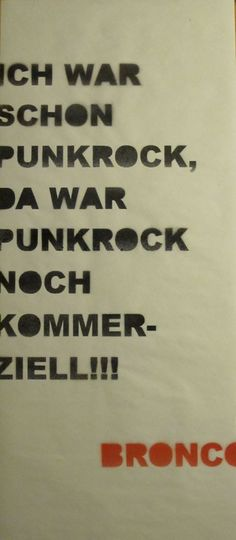 Punkrock, Bronco 2010