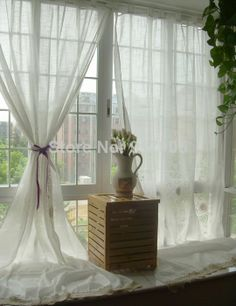 Free Shipping White Hollow Out Curtains For Living Room, American Country Style Cotton Linen Curtains, Whtie Sheer Curtains 2304,94 руб.