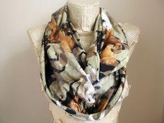 Horse  Infinity scarf Circle Scarf Loop Scarf Scarves by HeraScarf