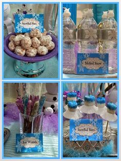 The Princess Birthday Blog: Frozen Party Food Ideas - Decorations