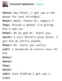 Picture memes — iFunny Steve: Hey Peter, I got you a. - Picture memes — iFunny Steve: Hey Peter, I got you a new phone for your - Avengers Humor, Marvel Jokes, Marvel Squad, Marvel Avengers, Funny Marvel Memes, Dc Memes, Marvel Heroes, Loki Meme, Spiderman Marvel