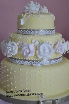 Spring Wedding Cake - Cake by Rachel Leah