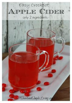 Easy Crockpot Apple Cider Recipe made with only 2 ingredients!