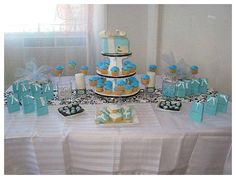 What girl doesn't want a Tiffany themed party??  Tiffany Themed Party Baby Shower Ideas from @Catherine Holt