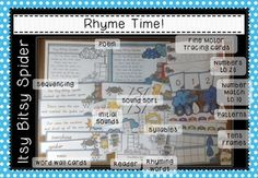 This activity packet includes a HUGE range of math and literacy based activities to support the nursery rhyme 'Itsy Bitsy Spider'. Contains 50 pages of math and literacy activities!