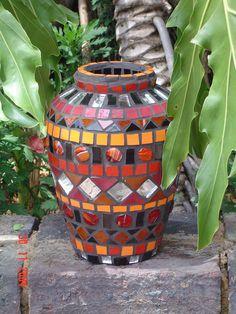 Small mosaic vase