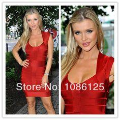 Дешевое Бесплатная доставка! Высокое качество красный сексуальное Bodycon HL бандажное платье горячая распродажа, Купить Качество Платья непосредственно из китайских фирмах-поставщиках: