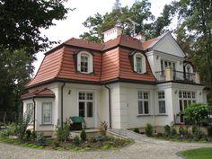 Elewacje Zuzzy: Czerwony dach białe okna cz.5