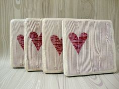 Wood Youset of 4 Italian stone coasters by MeadowTea on Etsy Cute Coasters, Ceramic Coasters, Stone Coasters, Wood Coasters, Drink Coasters, Popsicle Stick Coasters, Salt Dough Projects, Driftwood Crafts, Driftwood Table